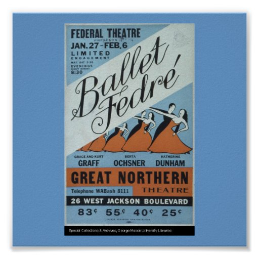 Chicago-Ballet Fedre de Poster-WPA