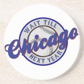 Chicago Baseball Sports Logo Wait Till Next Year Coaster