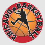 Chicago Basketball Classic Round Sticker