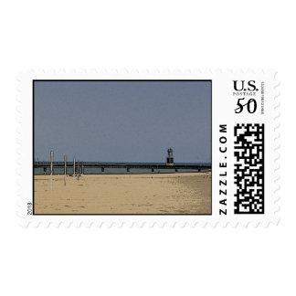 Chicago Beach Light Postage