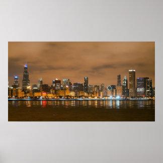 Chicago Bears Skyline Poster
