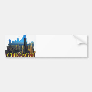 CHICAGO BEAUTIFUL LANDMARKS BUMPER STICKER