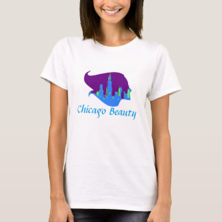 Chicago Beauty in Purple, Blue, and Green T-Shirt