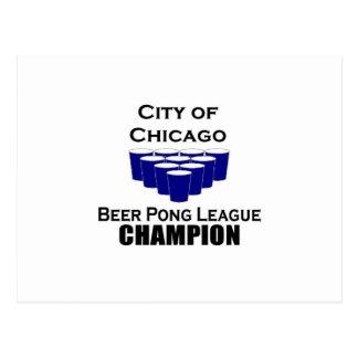 Chicago Beer Pong Champion Postcard
