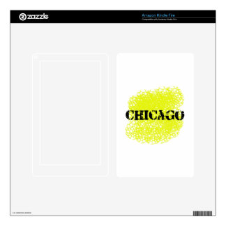 Chicago - Black and Yellow Kindle Fire Decals