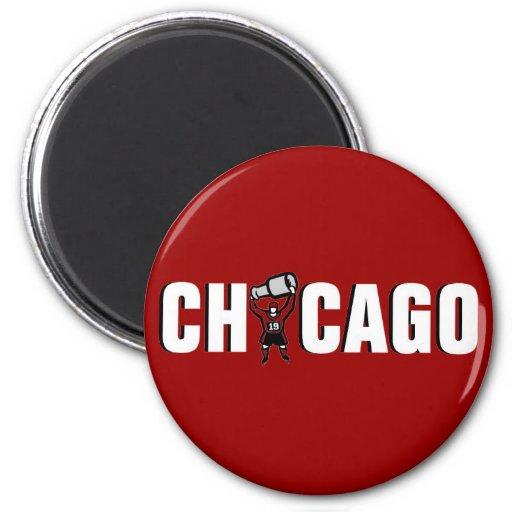 Chicago Blackhawks: Campeones de Stanley Cup Imán Redondo 5 Cm