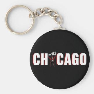 Chicago Blackhawks: Campeones de Stanley Cup Llavero Redondo Tipo Pin