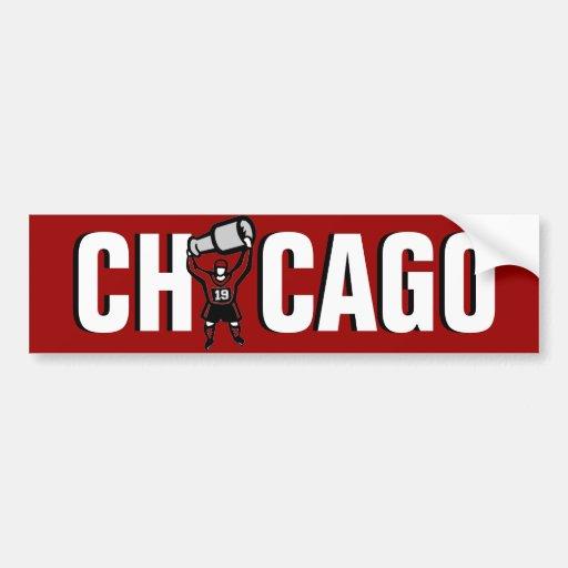 Chicago Blackhawks: Campeones de Stanley Cup Pegatina Para Auto