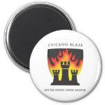 Chicago Blaze 2 Inch Round Magnet