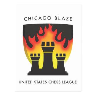 Chicago Blaze Postcard