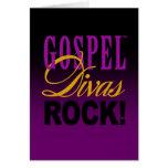 "CHICAGO BLING - ""Gospel Divas Rock!"" Greeting Cards"