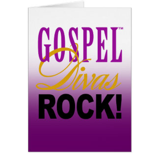 "CHICAGO BLING - ""Gospel Divas Rock!"" Stationery Note Card"
