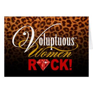 "CHICAGO BLING - Leopard ""Voluptuous Women Rock!"" Card"