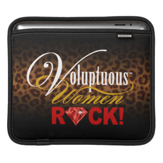 "CHICAGO BLING - Leopard ""Voluptuous Women Rock!"" iPad Sleeve"