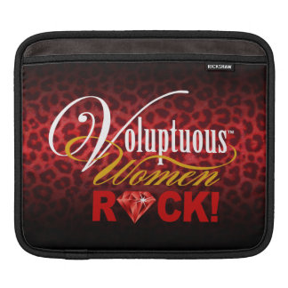 "CHICAGO BLING - Leopard ""Voluptuous Women Rock!"" Sleeves For iPads"