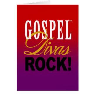 """¡CHICAGO BLING - """"roca de las divas del evangelio! Tarjeta Pequeña"""
