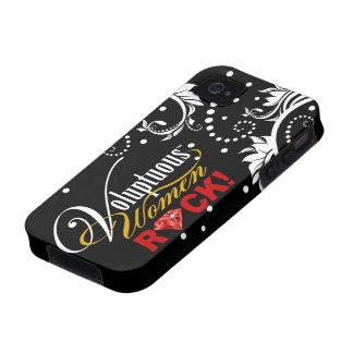 "¡CHICAGO BLING - ""roca de las mujeres voluptuosas! Case-Mate iPhone 4 Carcasas"