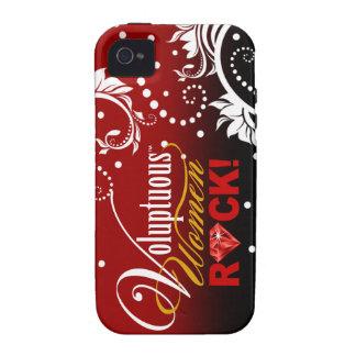 "¡CHICAGO BLING - ""roca de las mujeres voluptuosas! Case-Mate iPhone 4 Funda"