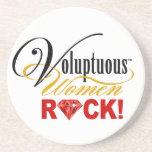 """¡CHICAGO BLING - """"roca de las mujeres voluptuosas! Posavasos Personalizados"""