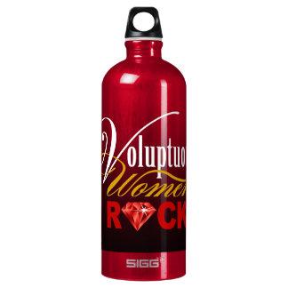 "CHICAGO BLING - ""Voluptuous Women Rock!"" Aluminum Water Bottle"