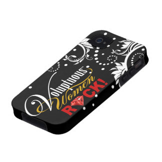 """CHICAGO BLING - """"Voluptuous Women Rock!"""" iPhone 4/4S Cover"""