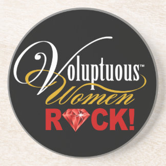 "CHICAGO BLING - ""Voluptuous Women Rock!"" Drink Coasters"