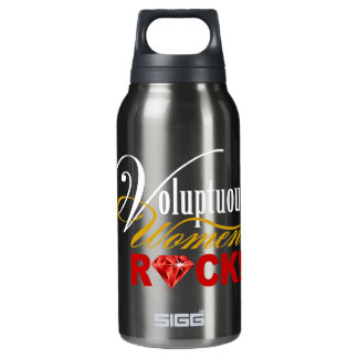 "CHICAGO BLING - ""Voluptuous Women Rock!"" Insulated Water Bottle"