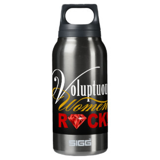 """CHICAGO BLING - """"Voluptuous Women Rock!"""" Insulated Water Bottle"""