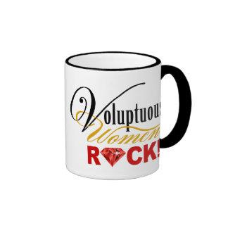 "CHICAGO BLING - ""Voluptuous Women Rock!"" Ringer Coffee Mug"