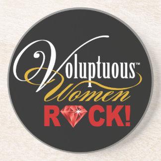 "CHICAGO BLING - ""Voluptuous Women Rock!"" Sandstone Coaster"