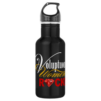 "CHICAGO BLING - ""Voluptuous Women Rock!"" Stainless Steel Water Bottle"