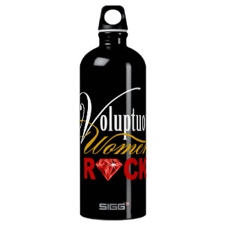 "CHICAGO BLING - ""Voluptuous Women Rock!"" Water Bottle"