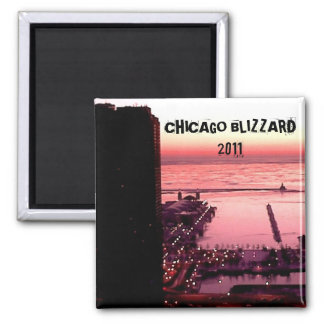 CHICAGO BLIZZARD 2011 2 INCH SQUARE MAGNET