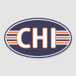Chicago Blue and Orange Sticker