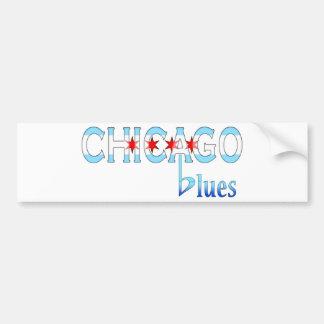 Chicago Blues, Chicago Flag Design Bumper Sticker