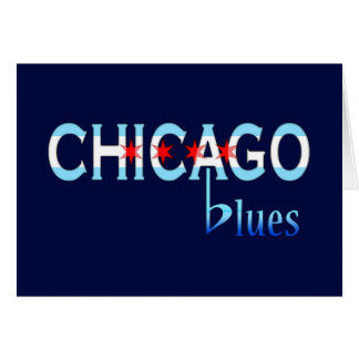 Chicago Blues, Chicago Flag Design Card