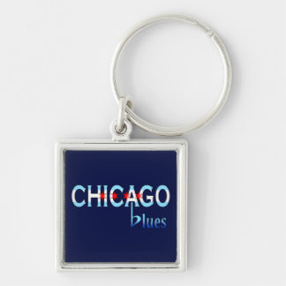 Chicago Blues, Chicago Flag Design Keychain