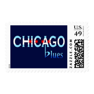 Chicago Blues, Chicago Flag Design Postage