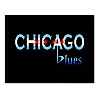 Chicago Blues, Chicago Flag Design Postcard