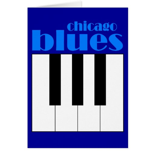 Chicago blues greeting card