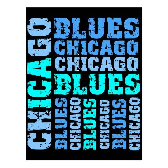 CHICAGO BLUES POSTCARD