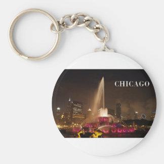 CHICAGO Buckingham Fountain (St.K) Basic Round Button Keychain