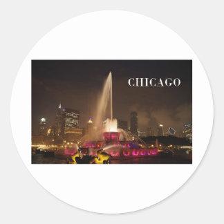CHICAGO Buckingham Fountain (St.K) Classic Round Sticker