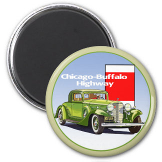 Chicago - Buffalo Highway National Auto Trail Magnets