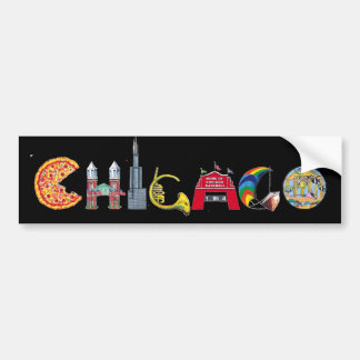 Chicago bumper sticker car bumper sticker