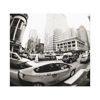 Chicago cab canvas print