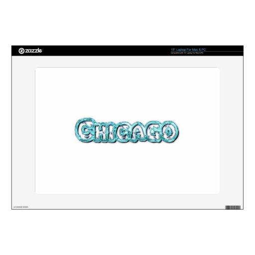 Chicago Calcomanías Para 38,1cm Portátiles