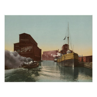Chicago Canal Elevator, 1900 Poster