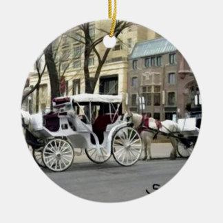 Chicago Carriage Ride Ceramic Ornament