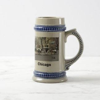 Chicago Carriage Ride Coffee Mugs